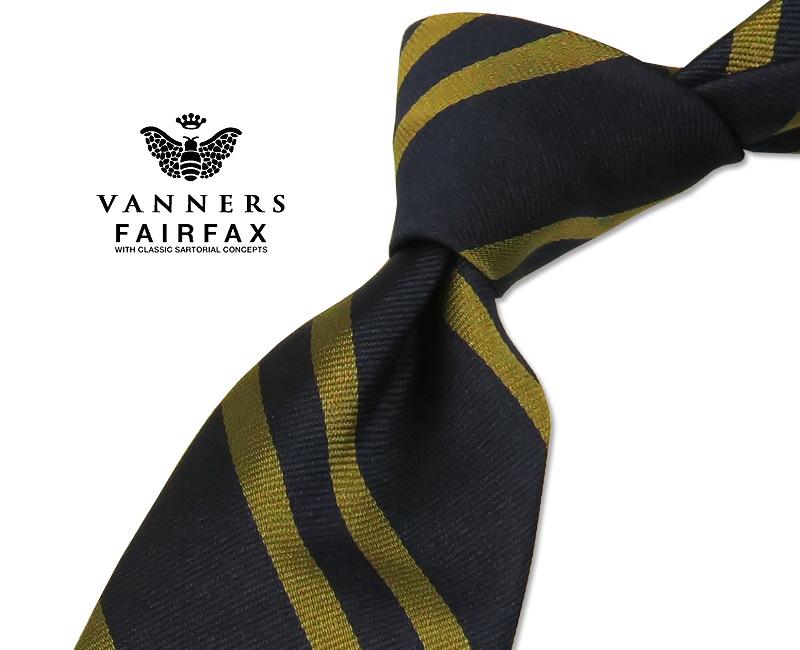 【 FAIRFAX / フェアファクス 】Vanners /バーナーズ(ヴァーナーズ) ( ストライプタイ ) ( レジメンタルネクタイ ) ( VAS-95 ) 【送料無料】【あす楽対応】FAIRFAX(フェアファクス)ネクタイ【送料込】