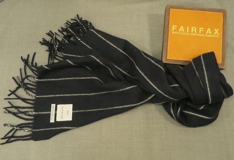 FAIRFAX / フェアファクス カシミヤマフラー FMS-60 ( ストライプ ) 【あす楽対応】