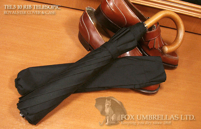 【 FOX UMBRELLAS / フォックス・アンブレラズ 】折りたたみ傘 ( マラッカ / 黒 )FX-TL3-MA-0001