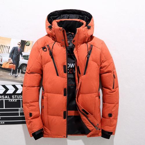 ダウンコート ダウンジャケット メンズアウター 長袖 カジュアル ショートコート 軽量 フード付き 暖かい 快適 送料無料 4色