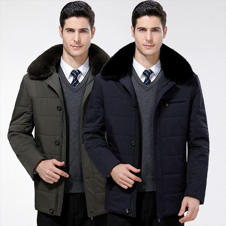 メンズ 中棉ジャケット ビジネスコート トップス 綿入れコート コットン 長袖 カジュアル 秋冬春防寒 厚 着心地良い ロングコート 軽量 暖かい 快適