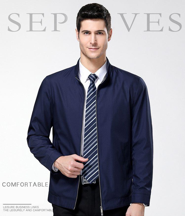 ジャケット アウター ブルゾン 立ち襟 紳士服 秋 春 防寒 防風 着心地良い ビジネス フォーマル