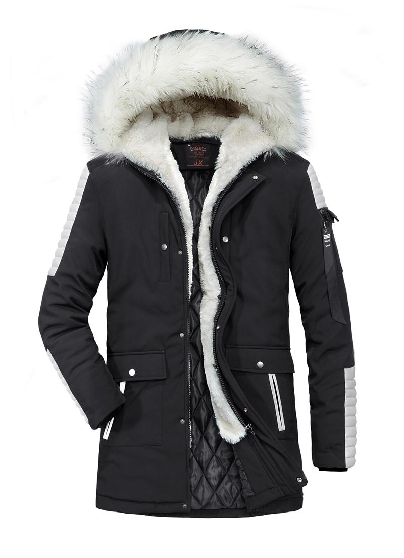 メンズ 中綿コート トップス アウター 長袖 カジュアル 秋冬春防寒 着心地良い ロングコート 軽量 暖かい 快適 フード付き フェイクファー付き