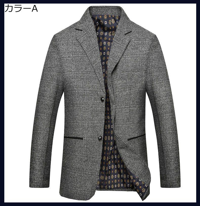 メンズ テーラードジャケット トップス スタイリッシュ アウター 長袖 カジュアル 着心地良い ロングコート 快適 ビジネス フォーマル レギュラー 紳士 おしゃれ