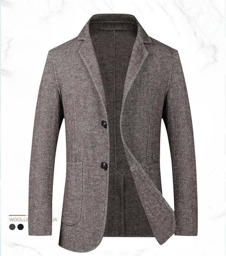 テーラードジャケット スーツジャケット ウール60% スタイリッシュ フォーマル アウター 長袖 カジュアル 秋冬春 着心地良い ビジネス おしゃれ ハーフコート 紳士服 ウールメルトン 送料無料 メンズ