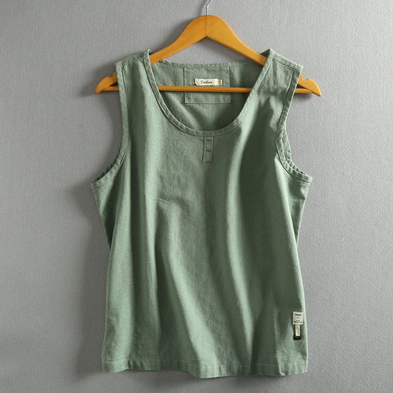着心地がいい タンクトップ お得クーポン発行中 メンズ チョッキ デポー オシャレ夏 袖なし シャツ