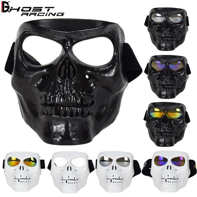 着後レビューで 送料無料 個性的で格好良い フェイスマスク 仮面 バイク用品 男女兼用 オールシーズン ライダー ライディング バイク用 保証 マスクレーシング