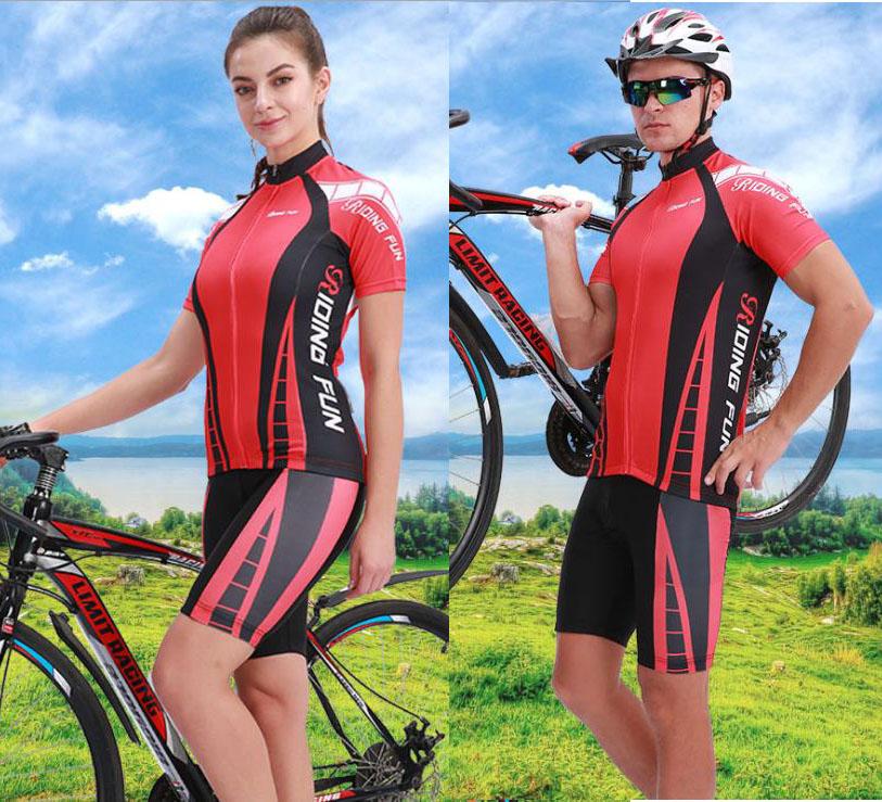 速乾吸汗通気 UVカット サイクルウエア 上下セット セットアップ 男 女 夏用 半袖 ショート丈 サイクルウェア 自転車ウェア サイクリング サイクルパンツ ジャージ 夏 吸汗 伸縮 速乾 通気 UVカット メンズ レディース