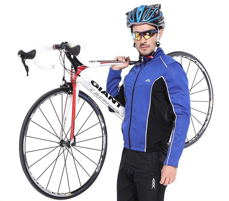サイクルジャージ メンズ レディース ユニセックス 上下セット セットアップ 長袖 ロング丈 サイクルウェア 自転車ウェア スポーツ サイクリング ジャージ 秋冬防寒 吸汗 伸縮 速乾 通気