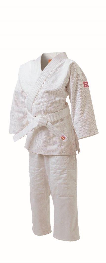 <九櫻> さくら 柔道 女子用一重織柔道衣(背継仕上) 上下セット JSL3 ホワイト