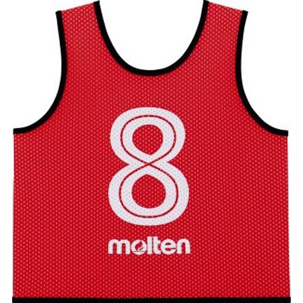 <モルテン> ウェア サッカー・フットサル ゲームベストGVジュニア10枚セット 赤 GS0112R 赤