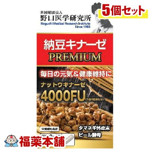 野口研究所 納豆キナーゼプレミアム 120粒×5個 [宅配便・送料無料] 「T60」