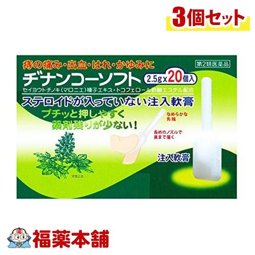 【第2類医薬品】ヂナンコーソフト (20個入×3箱) [宅配便・送料無料] 「T60」