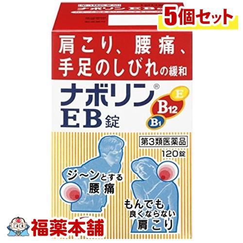 【第3類医薬品】☆ナボリンEB(120錠) ×5個 [宅配便・送料無料] *