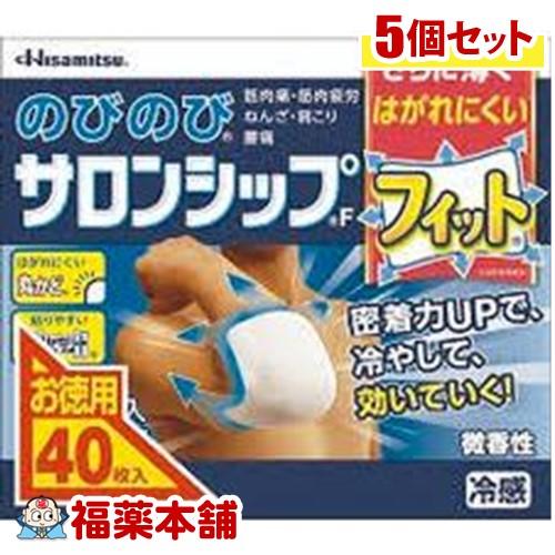 【第3類医薬品】のびのびサロンシップF(40枚入)×5個 [宅配便・送料無料]