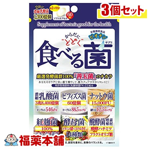 ジャパンギャルズ からだにとどく 食べる菌(460mgx60粒)×3個 [ゆうパケット・送料無料] 「YP20」
