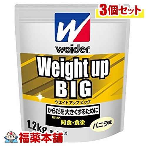 ウイダー ウエイトアップビッグ バニラ味(1.2kg)×3個 [宅配便・送料無料] *