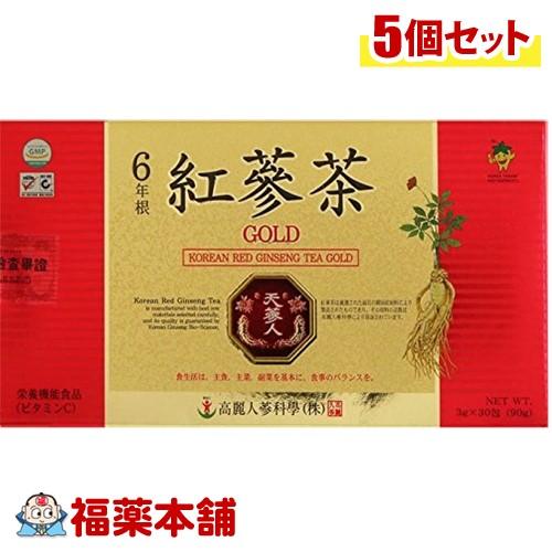 高麗紅参茶ゴールド(3gx30包)×5個 [宅配便・送料無料] 「T80」