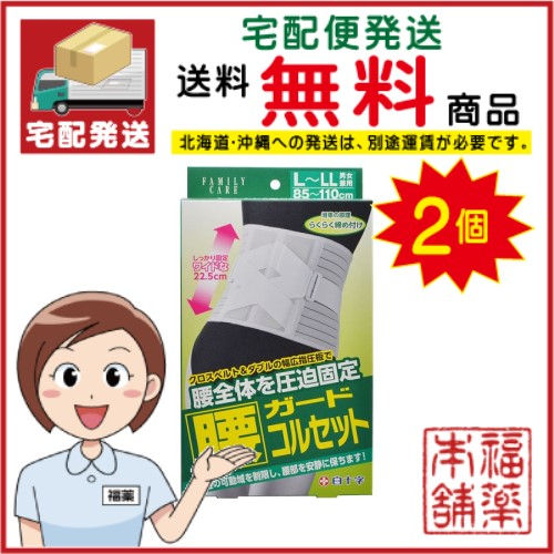 ファミリーケア 腰ガードコルセット L-LL×2個 [宅配便・送料無料]