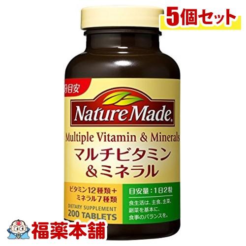 ネイチャーメイドマルチビタミン&ミネラル200粒×5個 [宅配便・送料無料] 「T60」