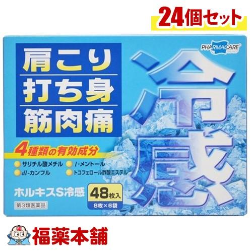 「全品・P5倍!」【第3類医薬品】ホルキスS冷感 48枚入×24箱[宅配便・送料無料]