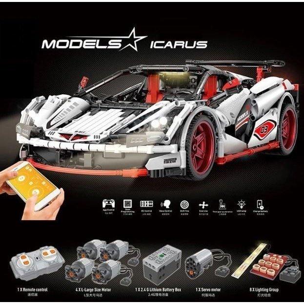 まるでラジコンレゴ レゴテクニック 互換 マクラーレン イカロス MP4 モーター&ライトキットセット ブロック プレゼント クリスマス