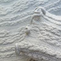 Outlet SALE ☆ Aran knit long sleeve turtle knit