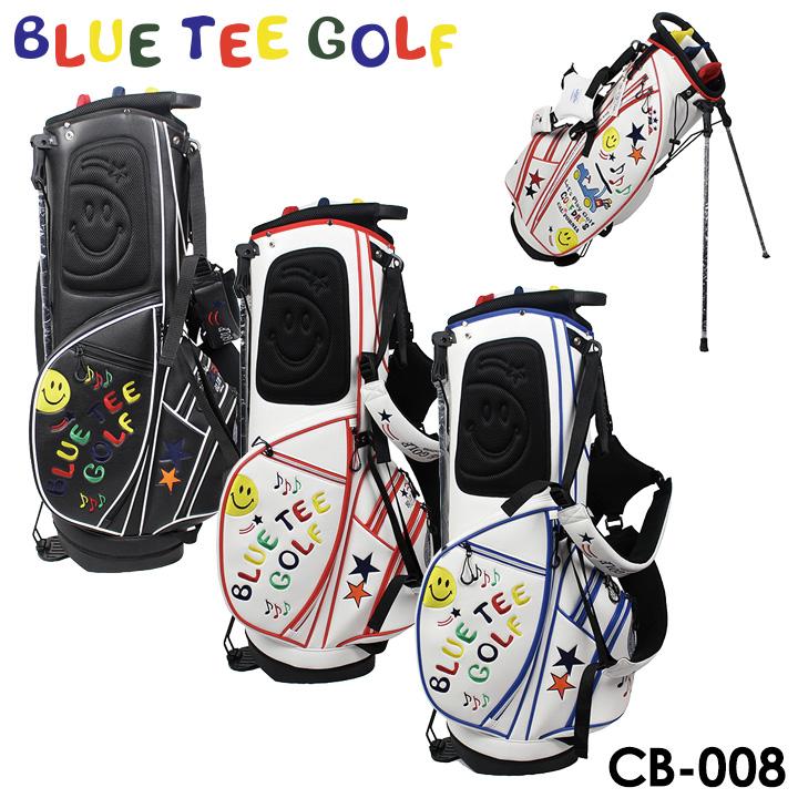 【送料無料】 【2018モデル】ブルーティーゴルフ CB-008 スマイル&カート スタンド キャディバッグ 9型 3.2kg 46インチ BLUE TEE GOLF