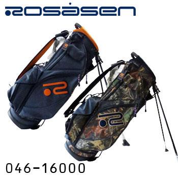 【2017秋冬モデル】ロサーセン 046-16000 スタンド式キャディバッグ 9型 3.4kg カモフラ柄 迷彩 ロゴ刺繍 Rosasen