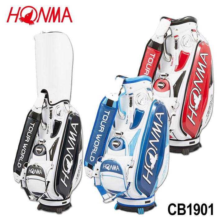 【2019モデル】トーナメントプロモデルキャディバッグ CB-1901 ゴルフ HONMMA 本間