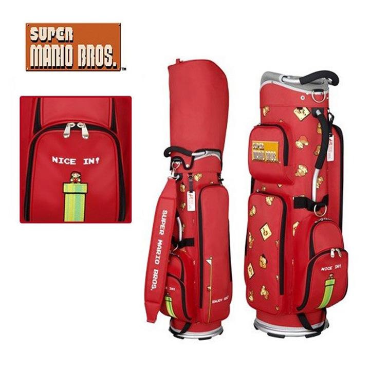 スーパーマリオブラザーズ SMCB002R カート型 キャディーバッグ(軽量タイプ) 9型 約2.9kg 47インチ対応 レッド SUPER MARIO BROTHERS
