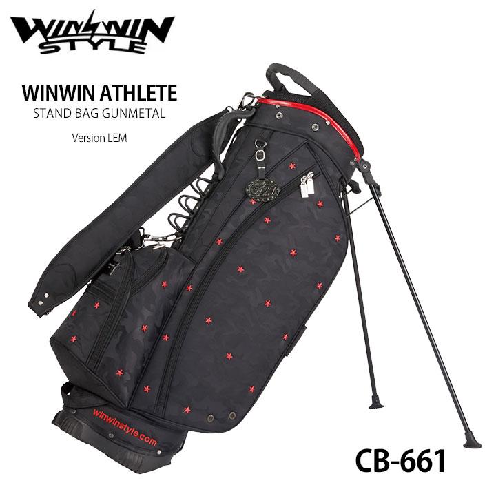 【2020モデル】ウィンウィンスタイル アスリートスタンドバッグ CB-661 WINWIN ATHLETE STAND BAG GUNMETAL Version LEM ゴルフキャディバッグ WINWIN STYLE