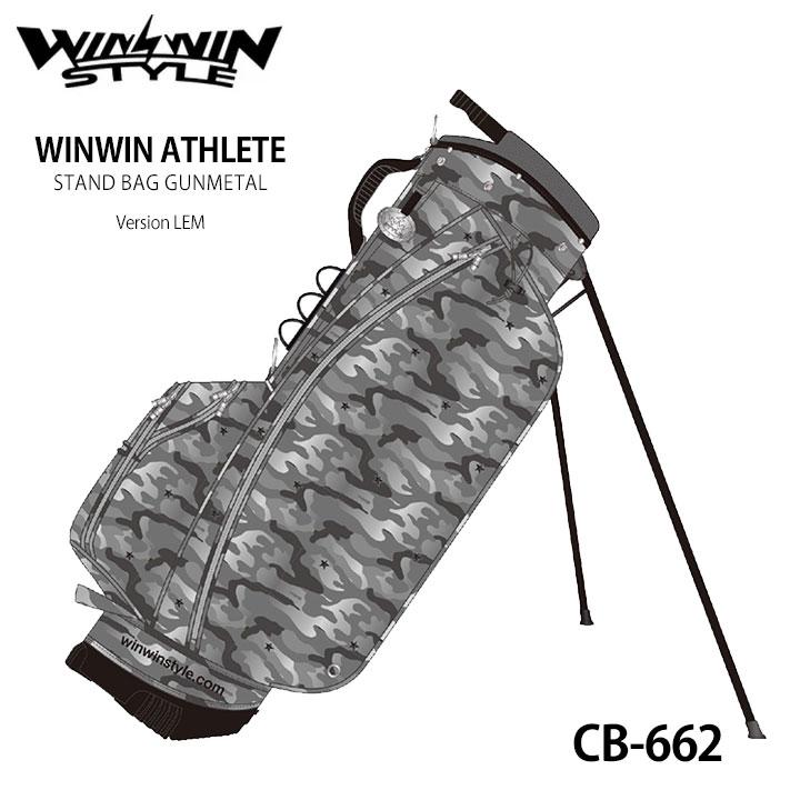 【2020モデル】ウィンウィンスタイル アスリートスタンドバッグ CB-662 WINWIN ATHLETE STAND BAG GUNMETAL Version LEM ゴルフキャディバッグ WINWIN STYLE