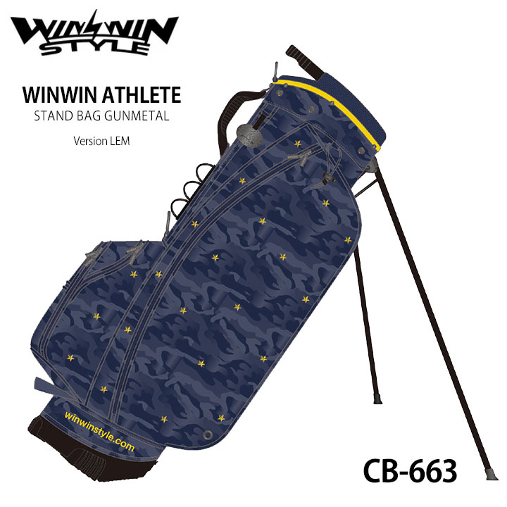 【2020モデル】ウィンウィンスタイル アスリートスタンドバッグ CB-663 WINWIN ATHLETE STAND BAG GUNMETAL Version LEM ゴルフキャディバッグ WINWIN STYLE