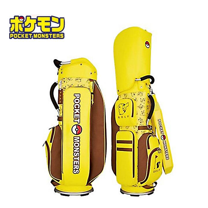 【ポケモン】ポケットモンスターキャディバッグ 9型 約2.9Kg 5分割 ゴルフ キャラクター ピカチュウ