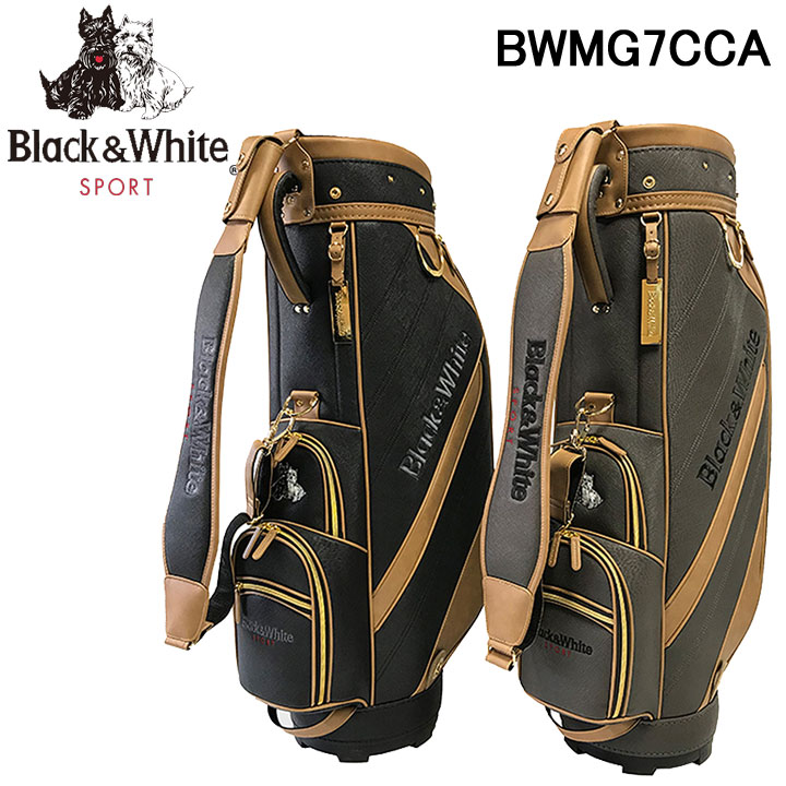 ブラック&ホワイト カジュアル キャディバッグ 9型 46インチ対応 BlackWhite BWMG7CCA 40p