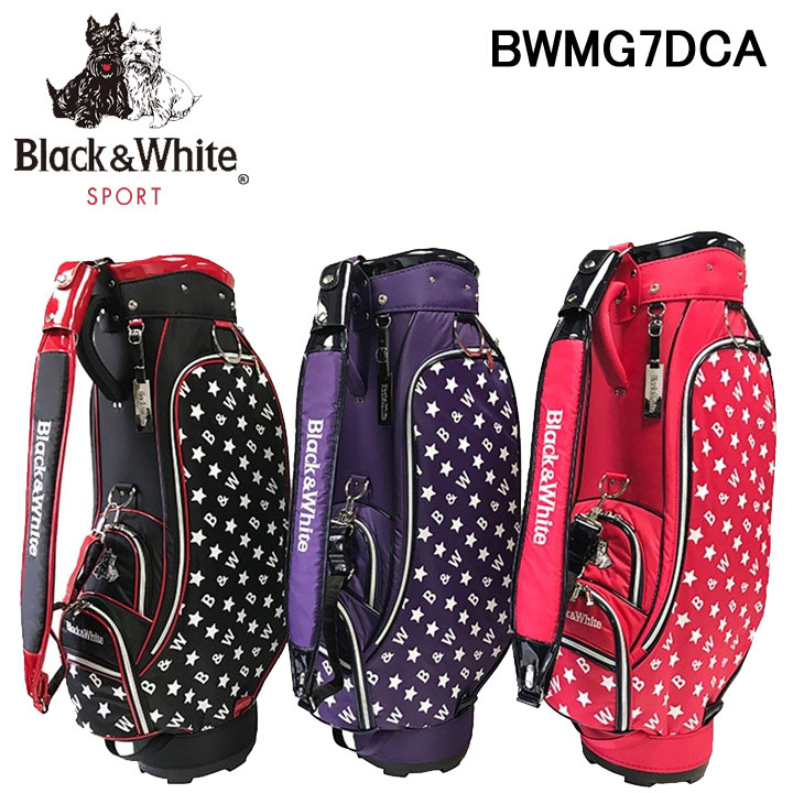 ブラック&ホワイト レディース キャディバッグ 8.5型 46インチ対応 Black&White BWMG7DCA 40p