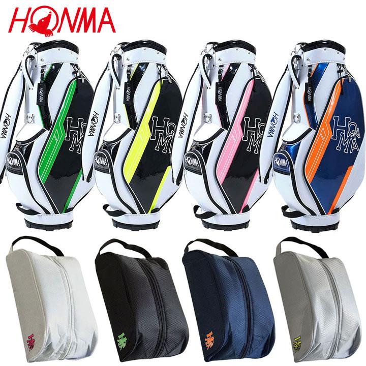 本間ゴルフ D1 キャディバッグ + シューズケース CB-12114 SC-12103 直営ストア 日本製 HONMA セット