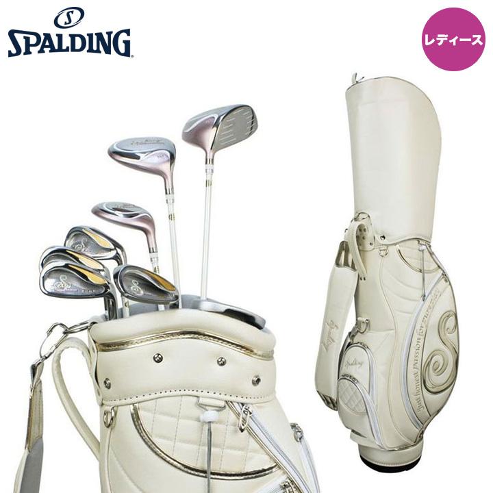【レディース】スポルディング LS-01 ゴルフクラブセット キャディバッグ付き 8本セット (#1,FW,UT,IR#7,#9,PW,SW,PT) Spalding
