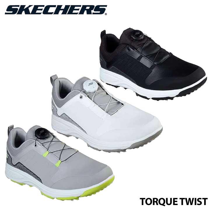 【2020モデル】スケッチャーズ 54551 トルクツイスト ダイヤル式 ソフトスパイク ゴルフシューズ 日本正規品 SKECHERS TORQUE TWIST