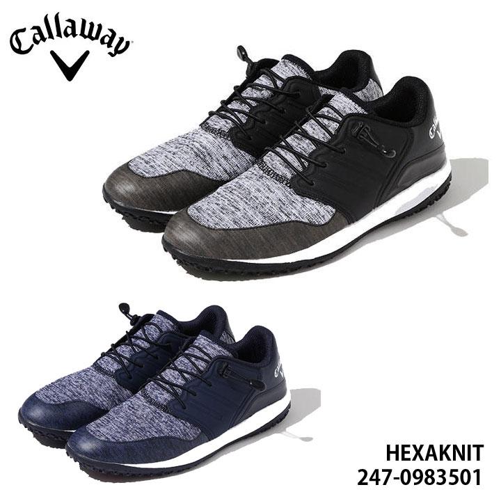 【2020モデル】キャロウェイ 247-0983501 ヘクサニット スパイクレス ゴルフシューズ メンズ Callaway HEXAKNIT MENS 010 120