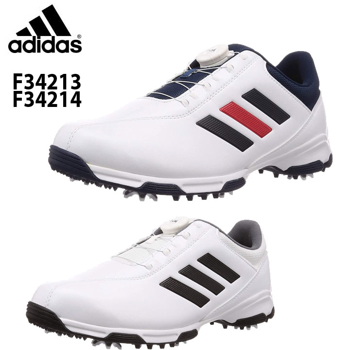 adidasメンズゴルフシューズ アディダスゴルフ シューズ トラクションライトボア F34213 訳あり品送料無料 2019 メンズゴルフスパイクシューズ F34214 adidas 国内送料無料