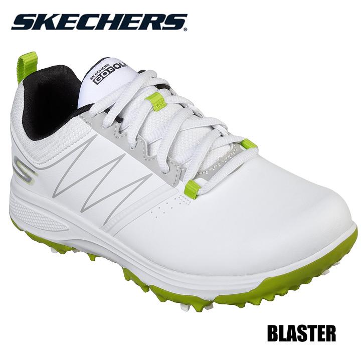 安い ジュニアにやさしい軽量で快適な取替式ソフトスパイク ジュニア スケッチャーズ 99981 ブラスター BLASTER SKECHERS ゴルフシューズ 信用 ホワイト×グリーン