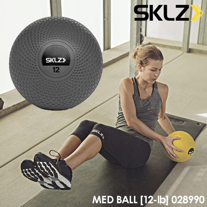 【2017モデル】スキルズ 028990 メッドボール 12ポンド グレー 5.44kg メディシンボール MED BALL 12-lb SKLZ