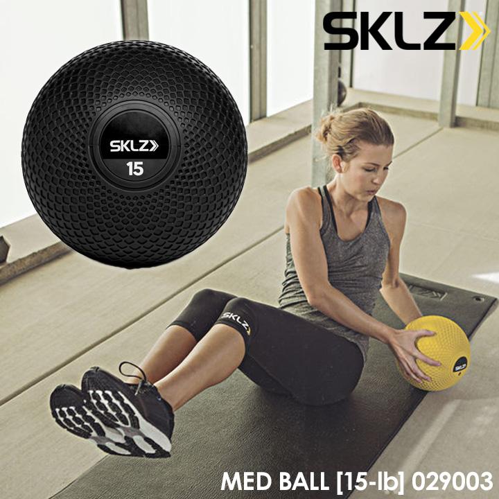 【2017モデル】スキルズ 029003 メッドボール 15ポンド ブラック 6.80kg メディシンボール MED BALL 15-lb SKLZ