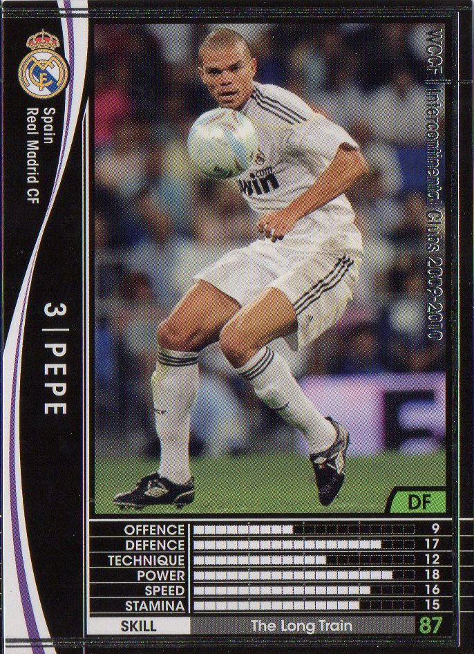 WCCF/09-10 / Real Madrid / black / 326 / Pepe
