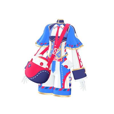 Shiningly pre-☆ Chan /J2-16 mail person blue sky dress SR