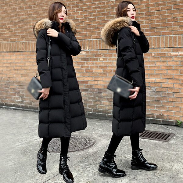 ダウンコート 買い取り 大きいサイズ ロングダウンコート 防寒性抜群 S-3XL ダウンジャケット アウター 超ロング コート着痩せ 膝下丈 暖かい ファー付き dw149s1s1n1 お買い得品 撥水 あったか 黒 フード付き 軽量 ブラック 厚手 防寒