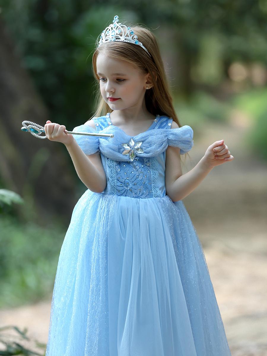 お姫様ドレス 子供ワンピース キッズ 子供 ドレス 子ども コスプレ衣装 大好きな お姫様 に変身 ftx-2329 シンデレラ 使い勝手の良い コスプレ 信用 コスチューム ロング 女の子用 衣装 服 誕生日 水色 子供用 蝶々ワンピース 人気 ブルー なりきり 青 プリンセス ワンピース