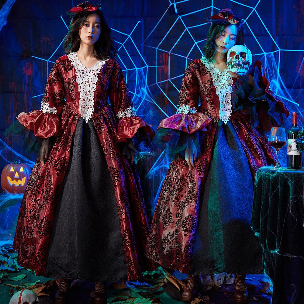 ハロウィン ゾンビコスチューム 悪魔 吸血鬼 ヴァンパイア 鬼魔女 仮装 大人用|女王様 コスプレ 女王 魔女 コスプレ衣装 可愛いコスプレ レディース 文化祭 小悪魔 ハロウイン ハロウィーン 大人 ハロウィン衣装 ワンピース 衣装 かわいい 余興 女性 ハロウィンコスチューム